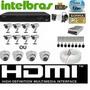 Kit Cftv Dvr 8 Ch Intelbras 8 Câm.infravermelho 1000l