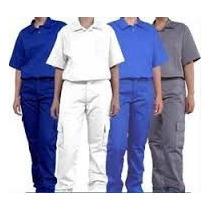 Conjunto Jaleco+calça Brim Reforçado Uniformes Varias Cores