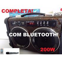 Caixa De Som Amplificado P Karaoke, Celular, Bluetooth, Mp3