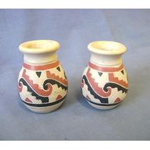 Par Mini Vaso Ceramica Marajoara