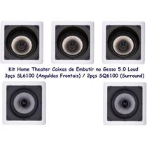Caixa Acústica De Embutir Gesso Loud Home Theater+projeto