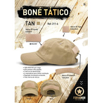 Bone Tático Ripstop Forhonor Desert C/ Velcro Pra Patches
