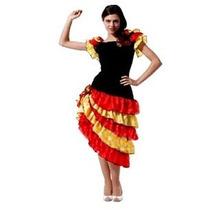 Fantasia Feminina Dançarina Espanhola - Tamanho Único