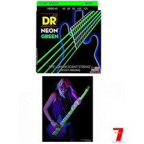 Encordoamento Baixo Dr Strings Neon Green 5 Cordas 0.45