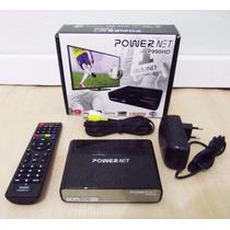 Receptor De Tv A Cabo Powernet P990 Hd E Wifi