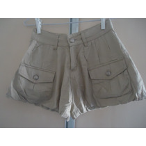 Shorts Balonê Feminino 34 Bege Usado