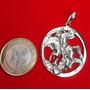 Imagem São Jorge Pingente Medalha De Prata 950 Frete Gratis