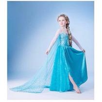 Fantasia Vestido Luxo Frozen Elsa E Anna Princesa Disney