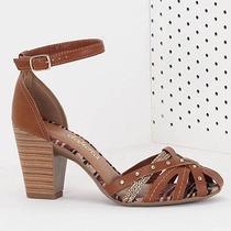 Sandália Salto Feminina Dakota - Caramelo