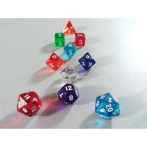 Kit 10 Dados Especiais Rpg Dungeons E Dragons - Monte O Seu!