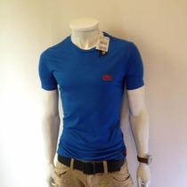 Camiseta Gola V Redonda Masculina Ecko Slim Fit Básica Lisa