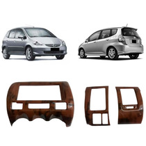 Kit Painel Madeira Honda Fit 2003 A 2008 Painelkit