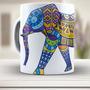 Caneca De Porcelana Elefante, Estampa Etnica - 511, Xicara