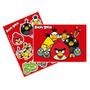 Kit Decorativo Com Painel Cartonado Festa Angry Birds Red