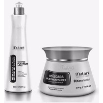 Shampoo Platinum Schock + Máscara Platinum Schock Mutari