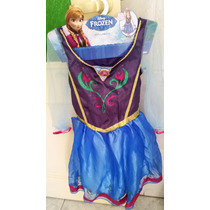 Fantasia Vestido Frozen Anna Importada Eua - Frete Grátis
