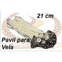 50 Pavil Para Velas 7 Dias Parafinado 21cm 100% Parafina.