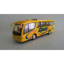 Onibus Miniatura Rodoviario Metal Abre Porta Amarelo