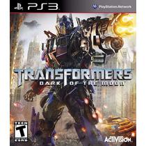 Jogo Ps3 Transformers Dark Of The Moon Original Lacrado