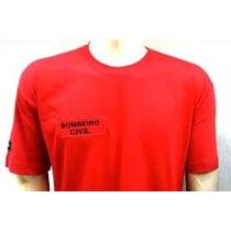 Camiseta Bombeiro Civil /vermelha