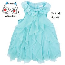 Vestido Body Importado Bebê Criança Festa 7-9m