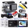 Sports Cam Prova Dagua Wifi X4000 +16g Classe10+boia+bastao