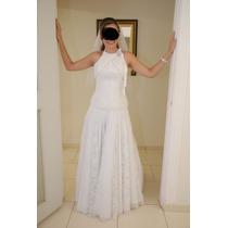 Vestido De Noiva Semi-novo Usado Apenas Uma Vez Renda