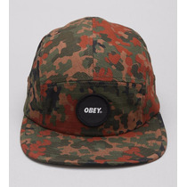 Boné Snapback Obey 5 Panel Circle Patch Blotch Camo
