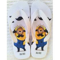 Chinelos Sandália Personalizado Minions Malvado Favorito
