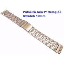 Pulseira Aço P/ Relógios Swatch 19mm 1ª Linha Irony