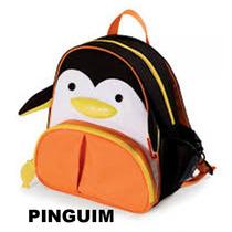 Kit Conjunto Mochila Infantil + Lancheira Skip Pinguim