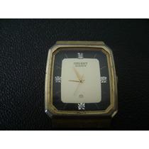 Antigo Relógio De Pulso Masculino Em Plaque Orient A Quartz