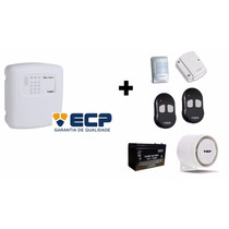 Kit Alarme Ecp Maxcell 4 Gsm + Acessórios