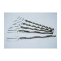 Garfo Para Pão De Mel E Bombom 3 Pontas Aluminio Kit C/ 5pçs
