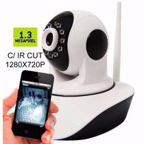 Camera Ip Sem Fio Hd 720p 1.3 Mp Wifi Noturna - Frete Grátis