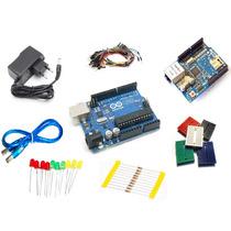 Kit Arduino Uno R3 Automação + Ethernet Shield + Componentes