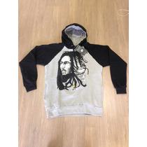 Blusa De Moletom Masculina Bob Marley E Leão Do Reggae