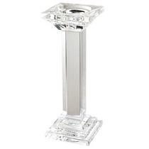 Castiçal De Vidro Cristal Porta Vela Decorativo Igreja Casa