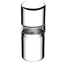 Porta Escova / Creme C/ Tampa Em Aço Inox E Acrílico Cristal