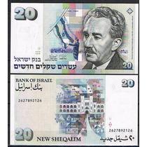 Israel 20 New Sheqalim 1993 P. 54c Fe Cédula - Tchequito