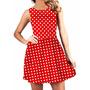 Vestido Rodado Pinup Pin-up Vermelho De Bolinhas Brancas[63]