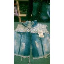 Colete Jeans Feminino Artesanal