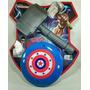 Kit Dos Vingadores Martelo Thor + Escudo Capitão América Bbb
