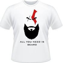 Camiseta Kratos All You Need Is Shave Camisa God Of War