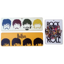 Kit 3 Placa Decorativa Beatles P/ Salas Bares Churrasqueira