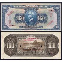 Rc0801 R139m 100 Mil Réis 1918 Tesouro Nacional Modelo Rara