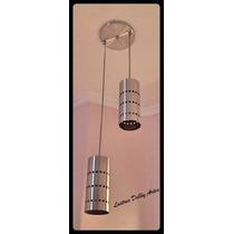 Lustre Pendente Em Alumínio 02 Cilindros - Direto Da Fábrica