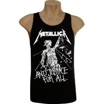 Camiseta Regata Masculina Rock Bandas Metallica