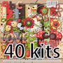 40 Kits Scrapbook Joaninha Png Papel Digital 1024 Imagens