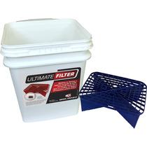 Balde Separador De Sujeira Azul Lavar Carro Ultimate Filter